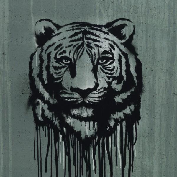 "65 cm Bomuldsjersey-Panel ""Wild Tiger"" by Thorsten Berger"