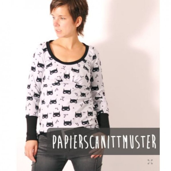 """Snitmønster LeniPePunkt 79 """"PUFFED.shirt"""" str XS-XXXL"""