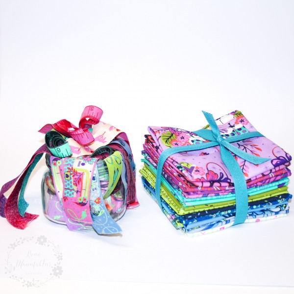 "Fat Quarter Bundle ""Homemade"" by Tula Pink med..."
