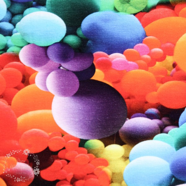 "Bomuldsjersey ""Bubblemania"""