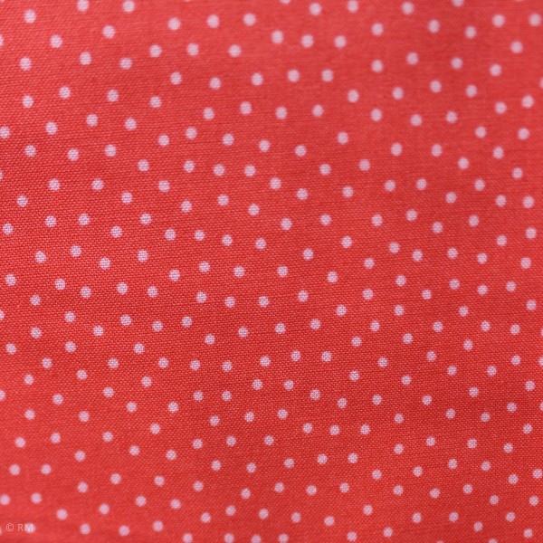 """Bomuld """"Junge Linie"""" rød med prikker"""