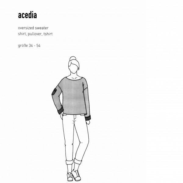 """Snitmønster Dame-Pullover """"Acedia"""" str 34 - 54"""