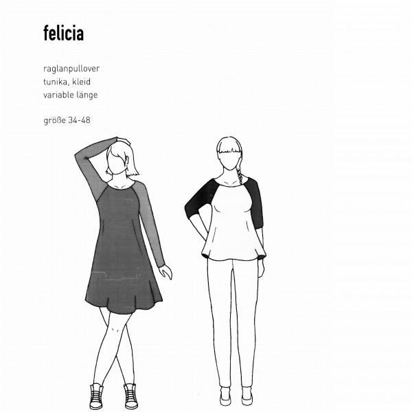 """Snitmønster Dame-Tunika """"Felicia"""" str 34 - 48"""