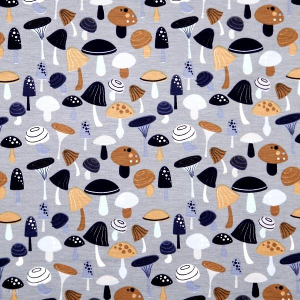 Bomuldsjersey med svampe