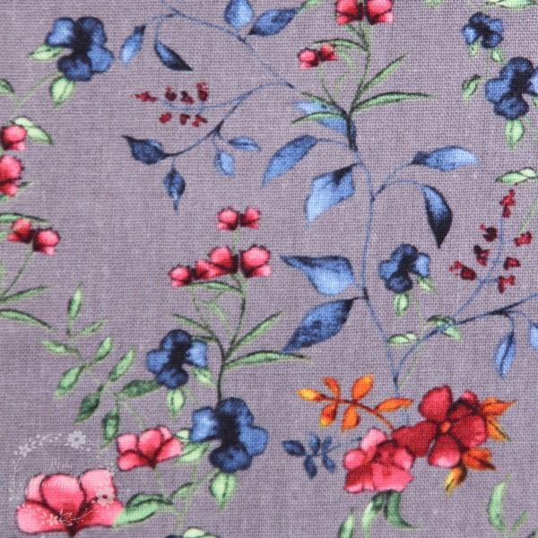 """Blanding af viskose og hør """"Lille Blomster"""""""