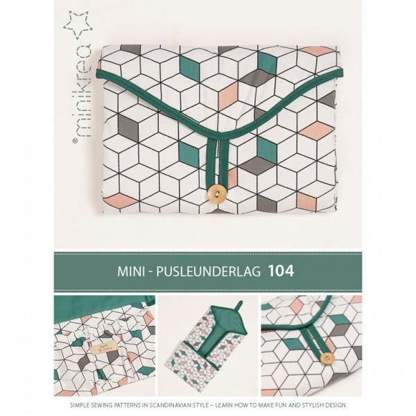 """MiniKrea Snitmønster 104 """"Mini-Pusleunderlag"""""""