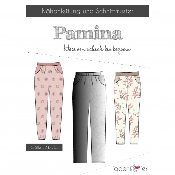 "Snitmønster Bukser ""Pamina"" Dame str 32 - 58"