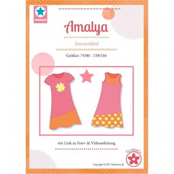 """Snitmønster Milauna Kjole """"Amalya"""" str 74 - 164"""