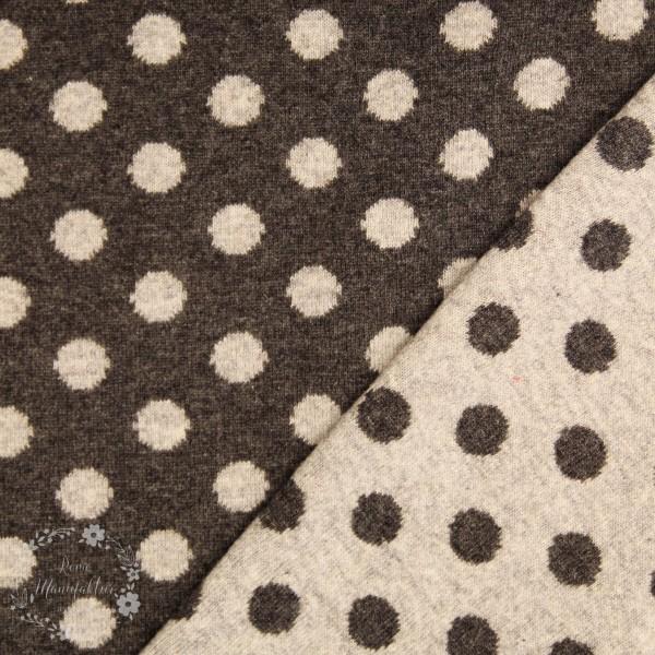 "Merino-Uld ""Stockholm"" med prikker grå"