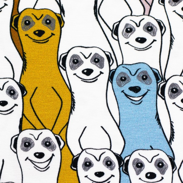"""Bomuldsjersey """"Jesse"""" meerkats"""
