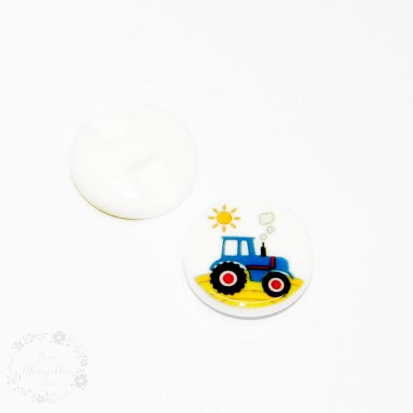 """Knap med øje """"Traktor eller Brandbil"""""""