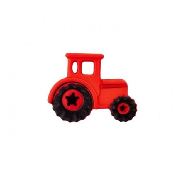 23 mm Øsken-Knap Traktor rød