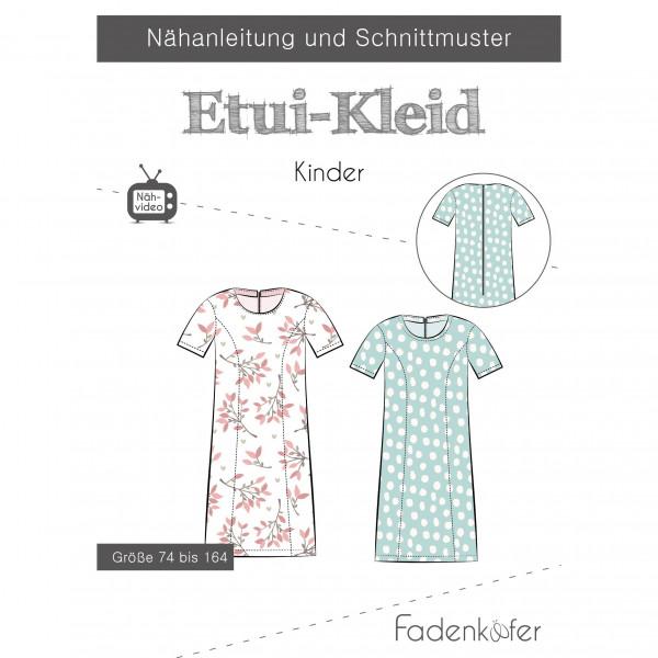 """Snitmønster Pige-Kjole """"Etui-Kleid"""" str 74 - 164"""