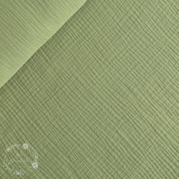 Double Gauze ensfarvet grøn