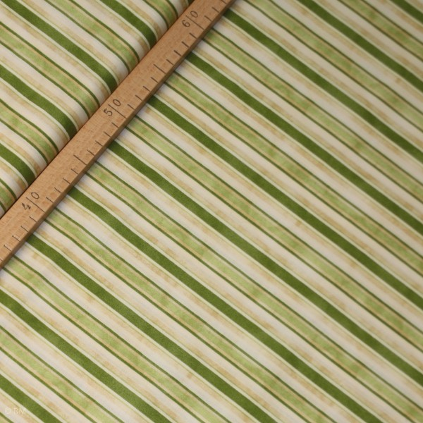 """Bomuld """"From the Farm"""" Awning Stripe Green"""