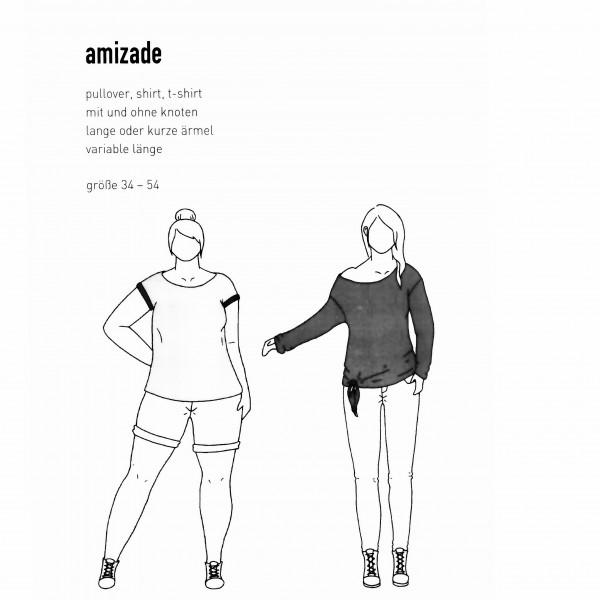 "Snitmønster Dame-Pullover ""Amizade"" str 34 - 54"