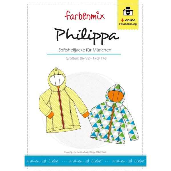 "Snitmønster Kids-Softshell-Jakke ""Philippa"" str..."