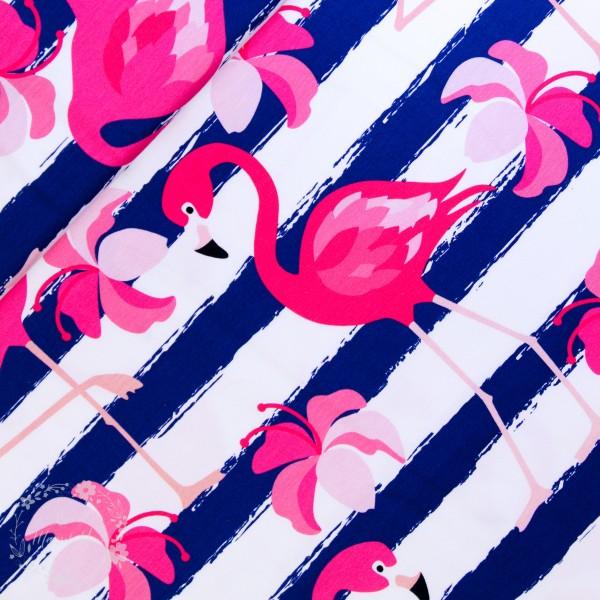 "Bomuldsjersey ""Luke"" Flamingo"