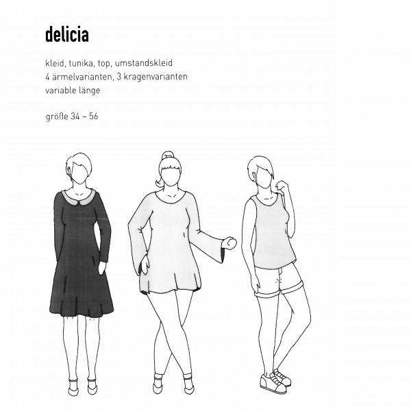 """Snitmønster Dame-Tunika """"Delicia"""" str 34 - 56"""
