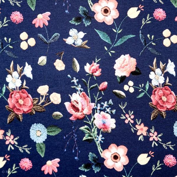 "Bomulds-Jersey ""Suri"" blomster"