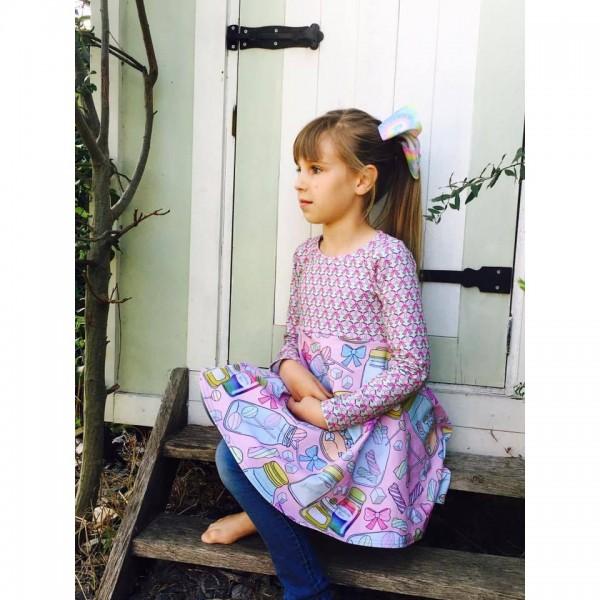 """Snitmønster til børn """"Add-on Child Dresses"""" str 80 - 164"""