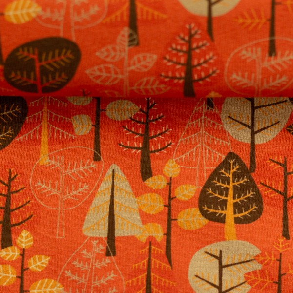 "Steinbeck-Jersey ""Woody"" træer rød"