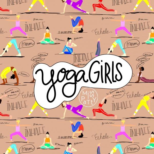 "BIO-Canvas ""Yoga Girl"" fra Miss Patty"