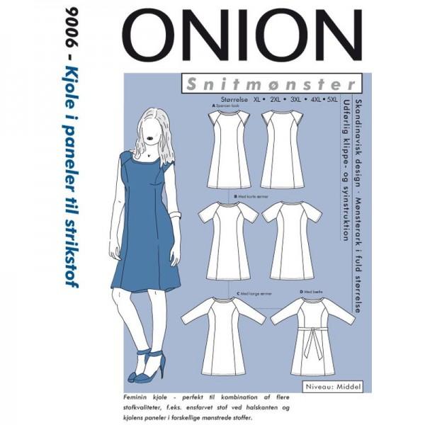 """Snitmønster Onion 9006 """"Kjole i paneler til..."""