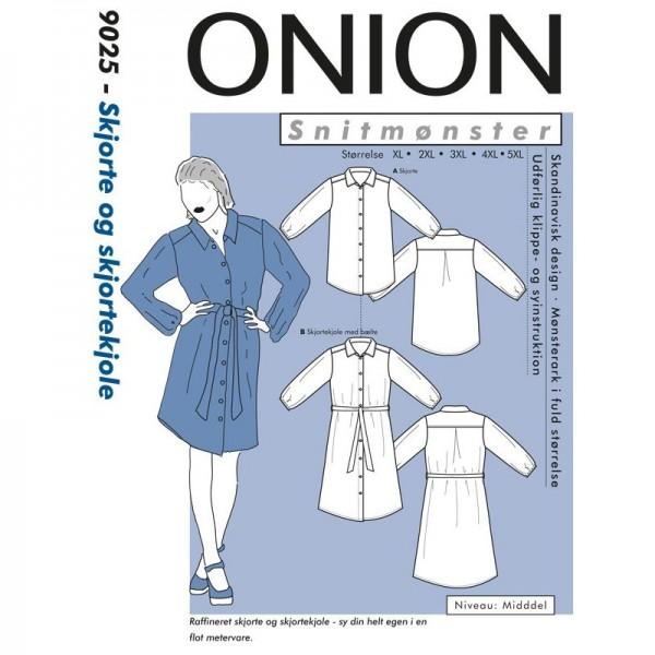 """Snitmønster Onion 4033 """"Skjorte og skjortekjole Plus-størrelser"""" str XL - 5 XL"""