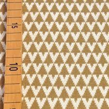 "BIO-Jacquard ""Triangle, sand"""