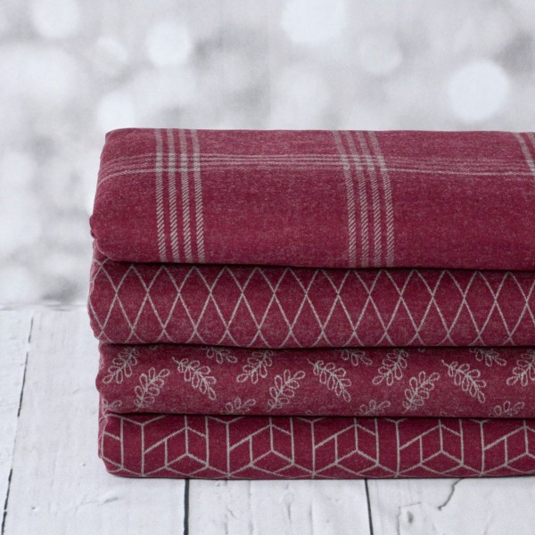 """Jacquard """"Cozy Collection rød"""" by lycklig design"""