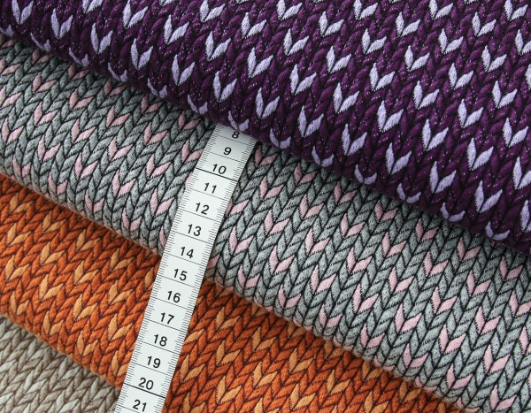 "BIO-Jacquard ""Check-Point Big Knit Stitches"""