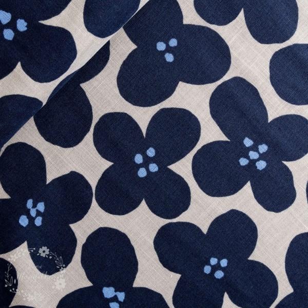 """Canvas """"KOKKA II 2018"""" blå blomster"""