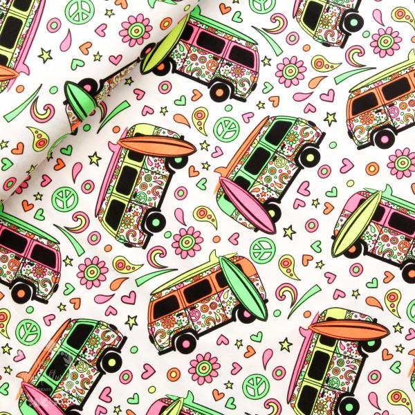"Bomuldsjersey ""Bus"" neon"