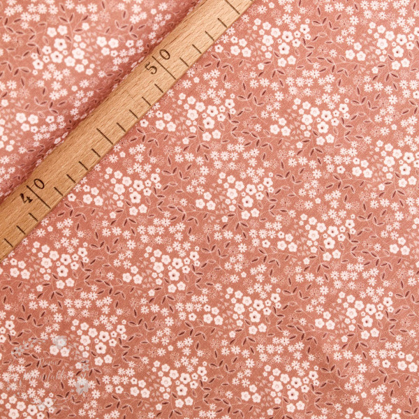 "Bomuldsjersey ""Avalana organic"" 15-033 lille blomster"