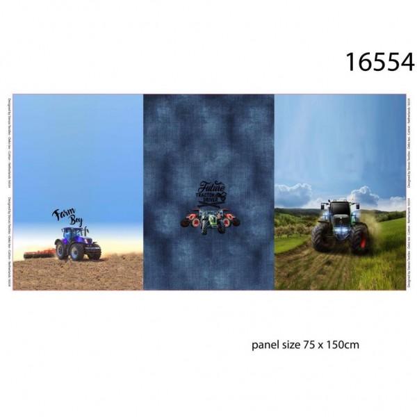 "75 cm French Terry-Panel ""Farm Boy"" fra Stenzo"