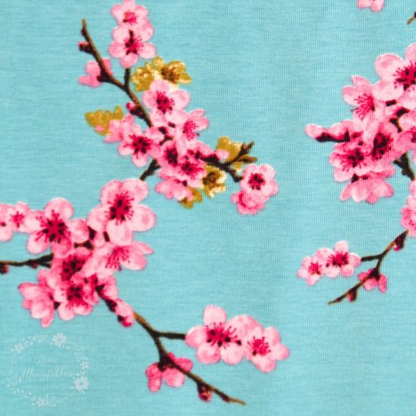 "Bomuldsjersey ""Cherry Blossom"""