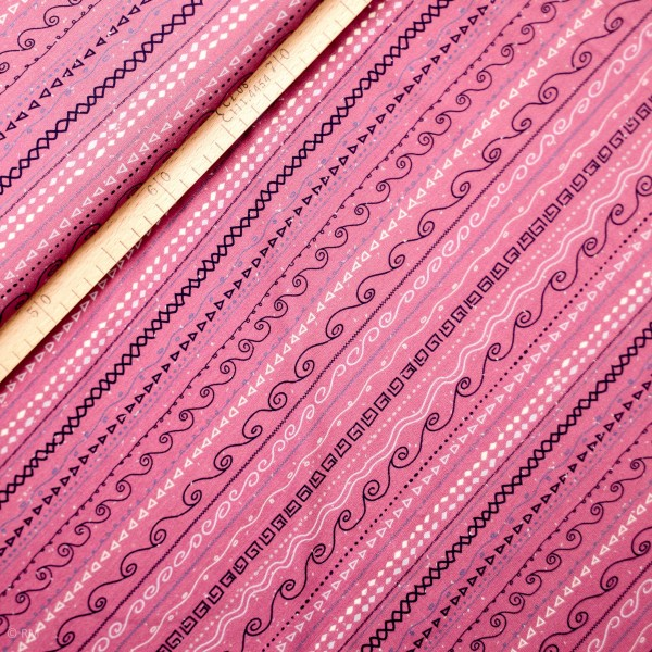 """Bomulds-Jersey """"Estelle"""" striber lille mønster"""