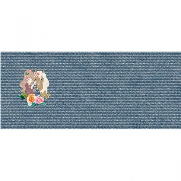 "50 cm French Terry Panel ""In Love"" by From Heart to Needle"