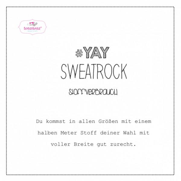 "Snitmønster Kids-Isoli-Nederdel ""YAY"" str 80 - 164"