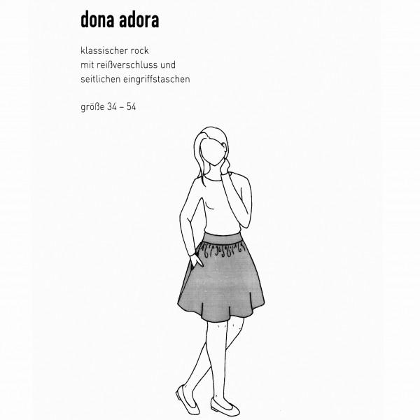 "Snitmønster Dame-Nedderdel ""Dona Adora"" str 34..."