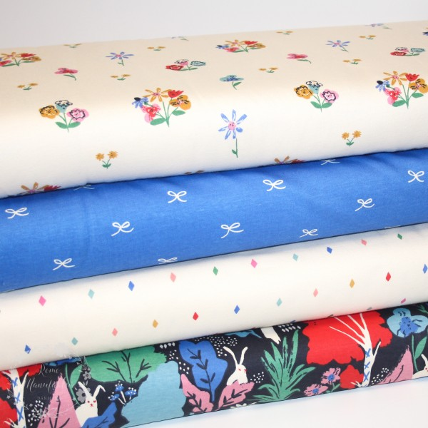 "BIO-Interlock-Bomuldsjersey ""Wonderland"" fra Birch Fabrics"