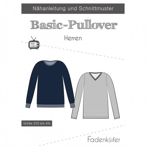 "Snitmønster Herre-Trøje ""Basic-Pullover"" str..."