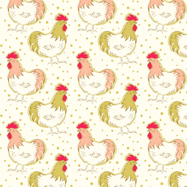 "Bomuld ""Homestead Life - Chicken Fancy - Apple..."