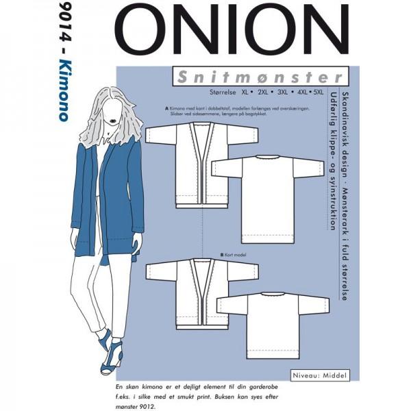 """Snitmønster Onion 9014 """"Kimono"""" str XL - 5 XL"""