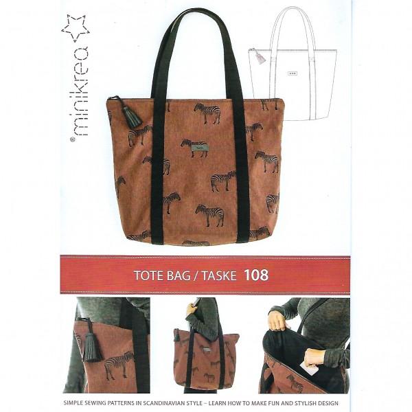 MiniKrea Snitmønster Tote Bag Taske Nr. 108