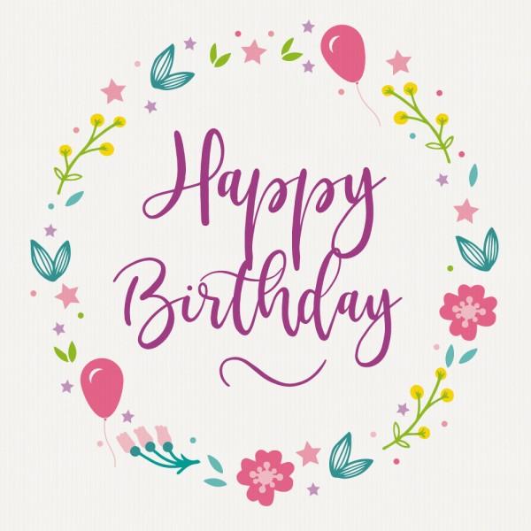 """Gavekort """"Happy Birthday"""""""