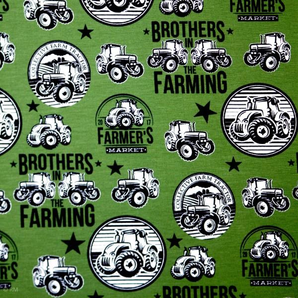 Bomuldsjersey med traktorer