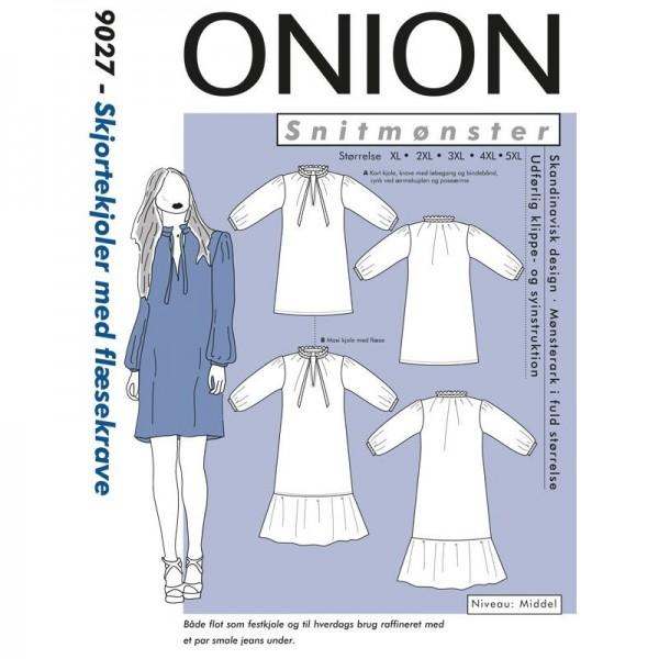 """Snitmønster Onion 9027 """"Skjortekjoler med..."""