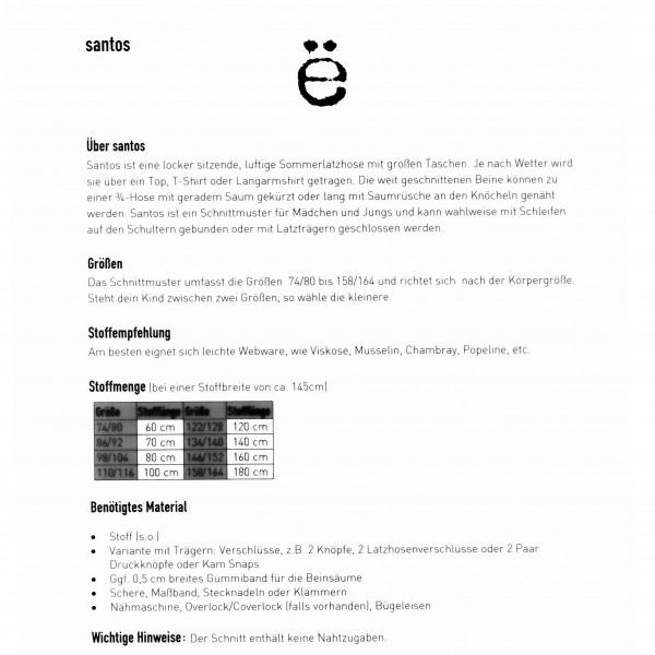 """Snitmønster Børns-Jumpsuit """"Santos"""" str 74/80 - 158/164"""